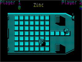 In game image of Uridium on the Sinclair ZX Spectrum.