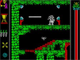 In game image of Vampire's Empire on the Sinclair ZX Spectrum.