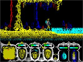 In game image of Viaje Al Centro De La Tierra on the Sinclair ZX Spectrum.