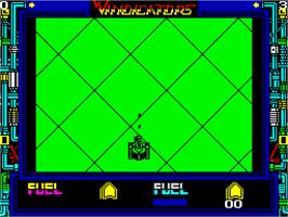 In game image of Vindicators on the Sinclair ZX Spectrum.