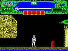 In game image of Vixen on the Sinclair ZX Spectrum.