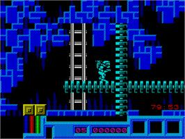 In game image of War Machine on the Sinclair ZX Spectrum.