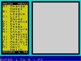 In game image of We Are the Champions on the Sinclair ZX Spectrum.