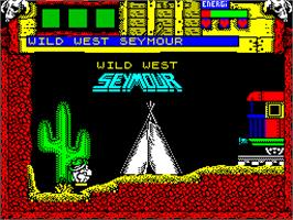 In game image of Wild West Seymour on the Sinclair ZX Spectrum.