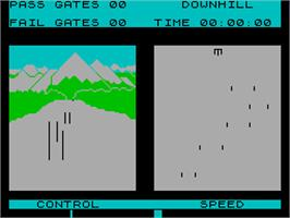 In game image of Winter Sports on the Sinclair ZX Spectrum.