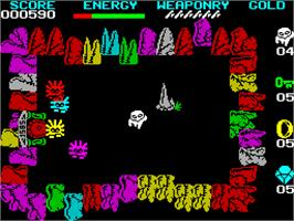 In game image of Wizard's Lair on the Sinclair ZX Spectrum.