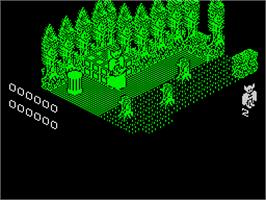 In game image of Wolfan on the Sinclair ZX Spectrum.