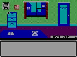 In game image of World Championship Boxing Manager on the Sinclair ZX Spectrum.