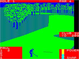 In game image of World Class Leader Board on the Sinclair ZX Spectrum.