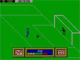 In game image of World Cup Carnival on the Sinclair ZX Spectrum.