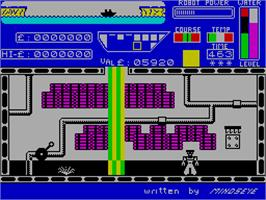 In game image of Worse Things Happen at Sea on the Sinclair ZX Spectrum.
