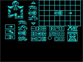 In game image of X-Out on the Sinclair ZX Spectrum.