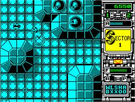 In game image of Xenon on the Sinclair ZX Spectrum.