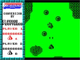 In game image of Xevious on the Sinclair ZX Spectrum.