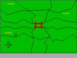 In game image of Z-Pilot on the Sinclair ZX Spectrum.