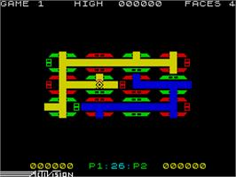 In game image of Zenji on the Sinclair ZX Spectrum.