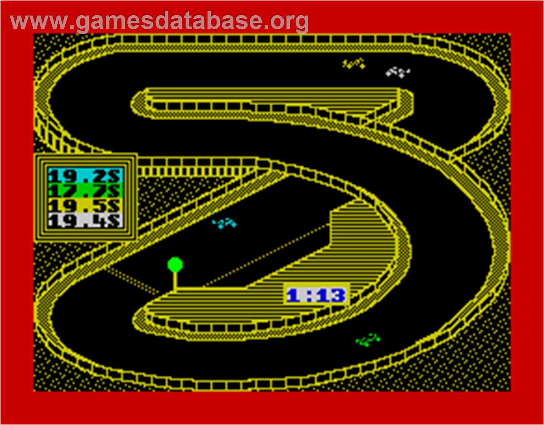 3d Grand Prix Championship Sinclair Zx Spectrum Artwork In Game