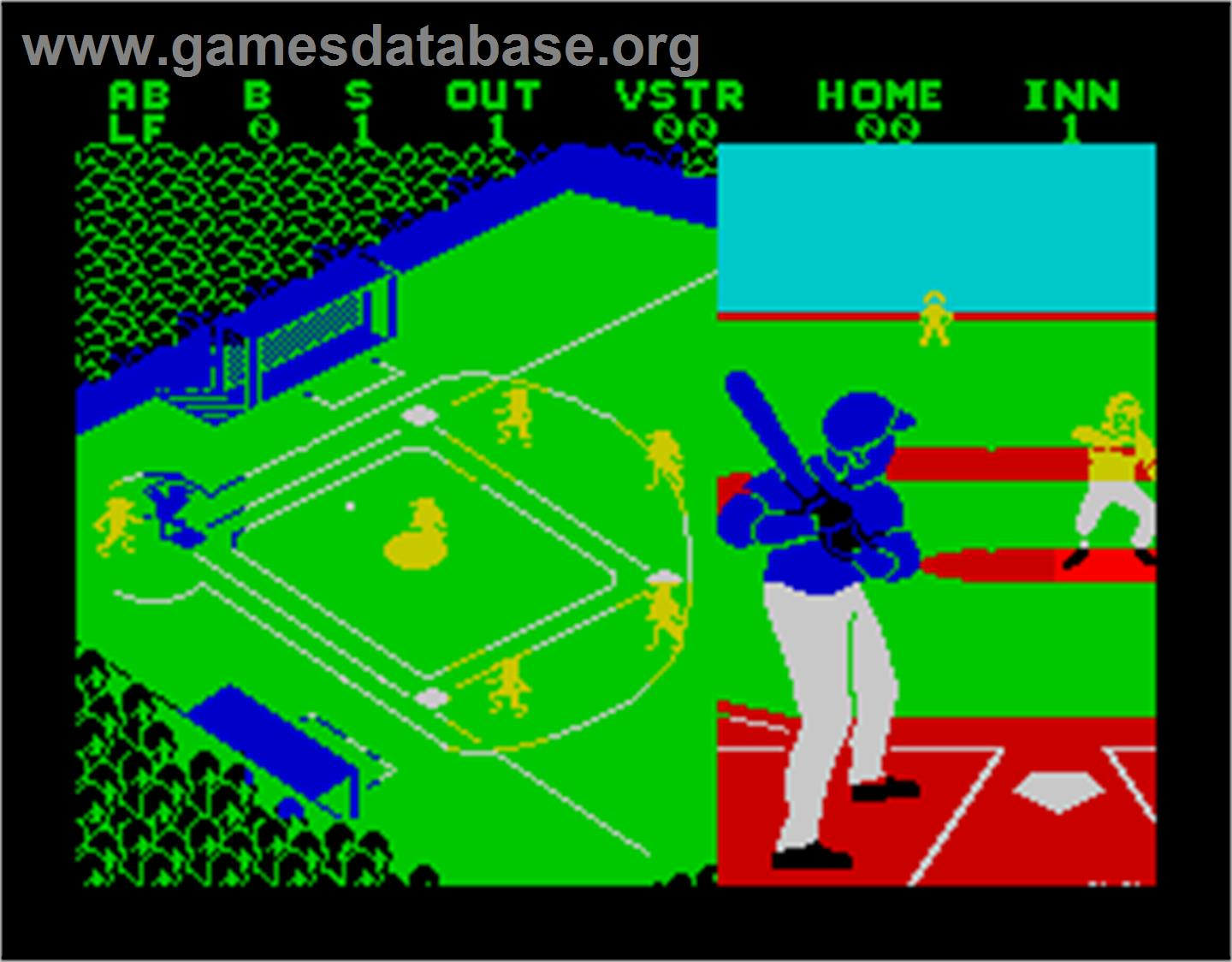 Championship Baseball - Sinclair ZX Spectrum - Artwork - In Game