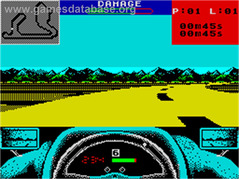 Grand Prix Circuit Sinclair Zx Spectrum Artwork In Game