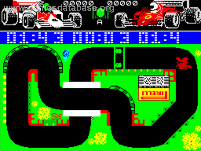 Grand Prix Simulator Sinclair Zx Spectrum Artwork In Game