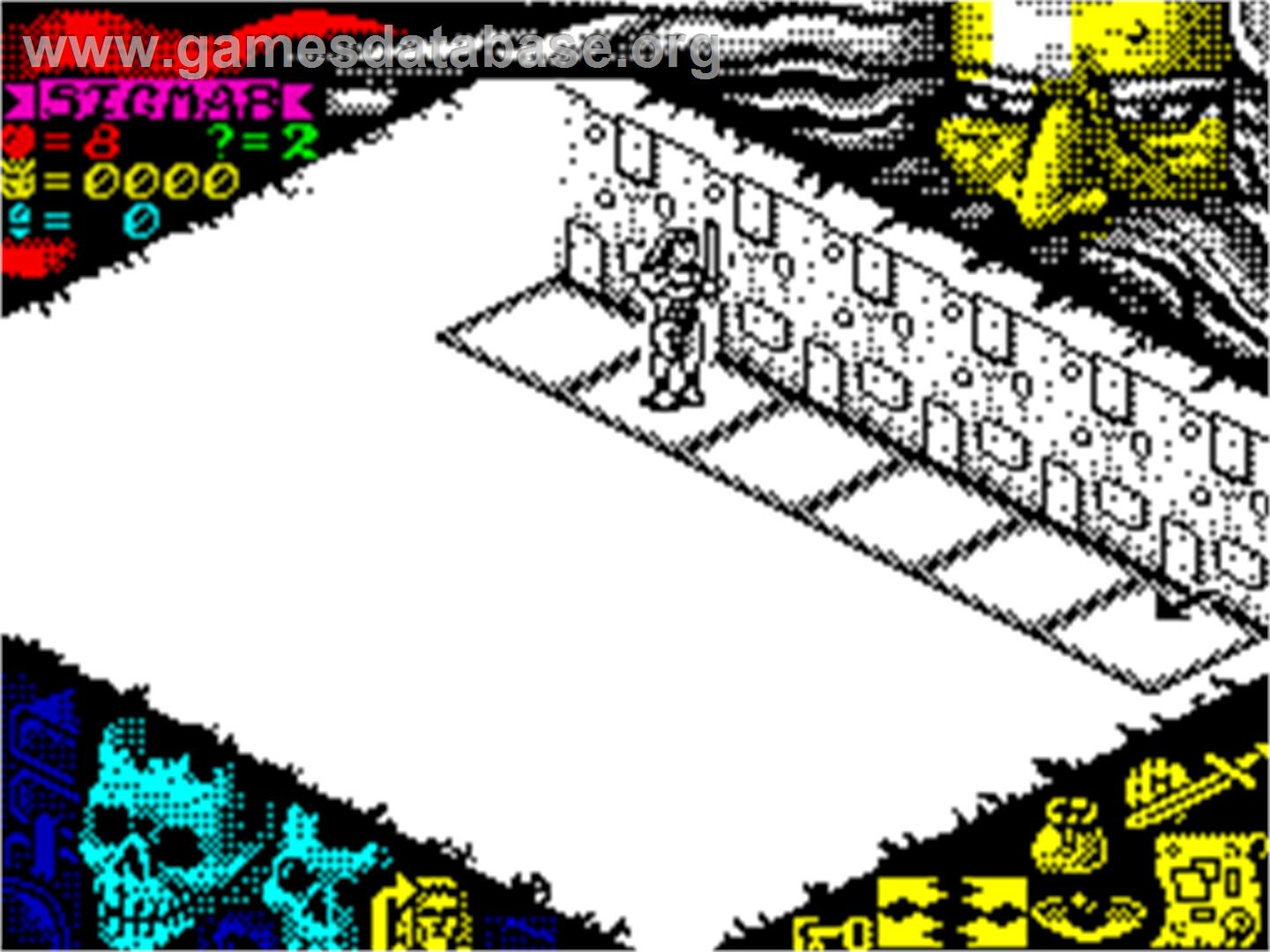 In game image of Hero Quest: Return of the Witch Lord on the Sinclair
