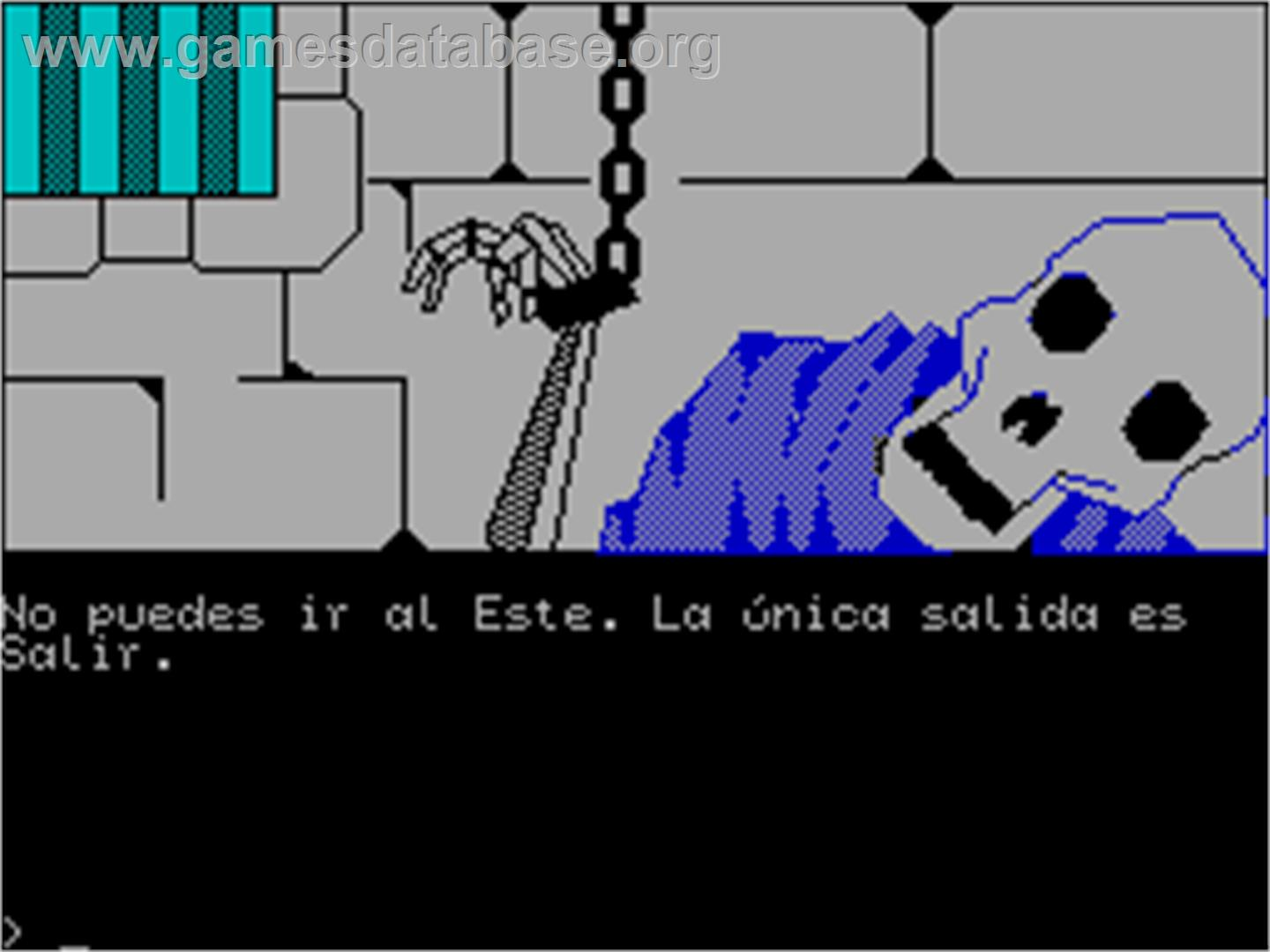 In game image of Jabato on the Sinclair ZX Spectrum.