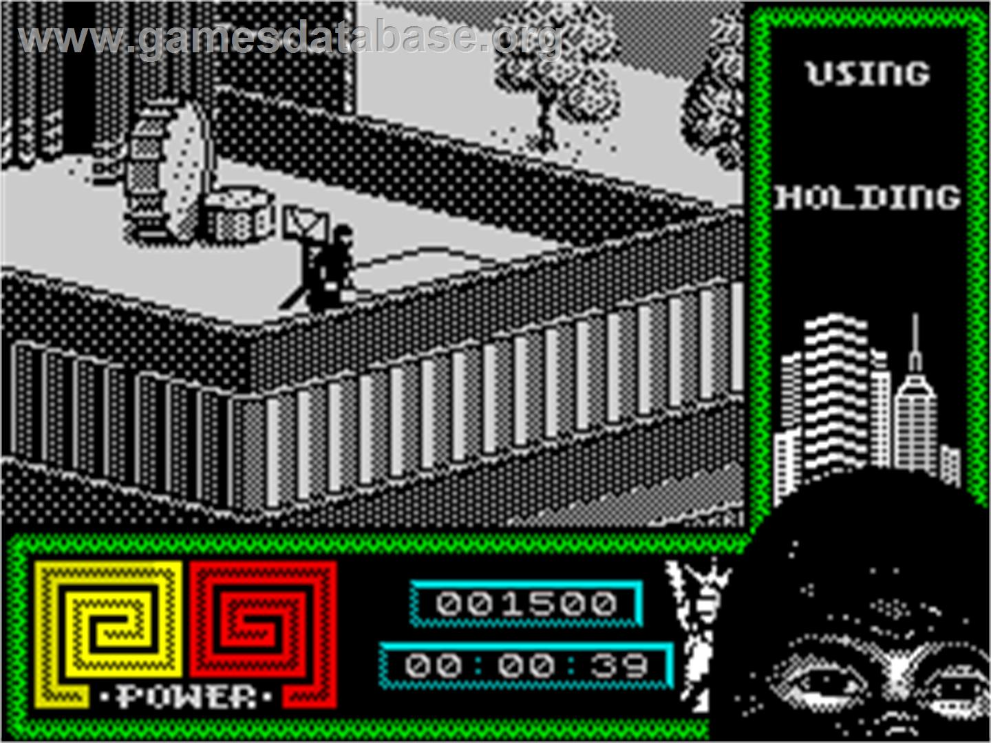 In game image of Last Ninja 2: Back with a Vengeance on the Sinclair