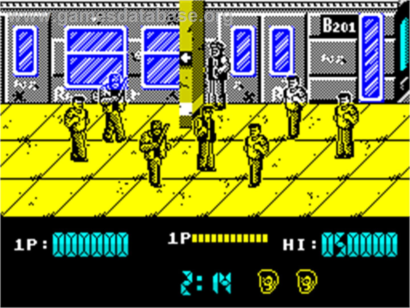 In game image of Renegade on the Sinclair ZX Spectrum