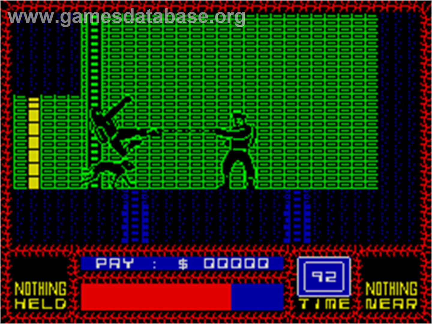 Saboteur II - Sinclair ZX Spectrum - Artwork - In Game