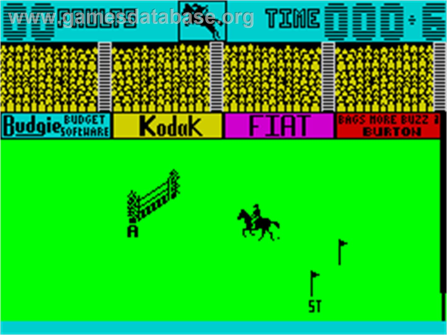 Show Jumping - Sinclair ZX Spectrum - Artwork - In Game