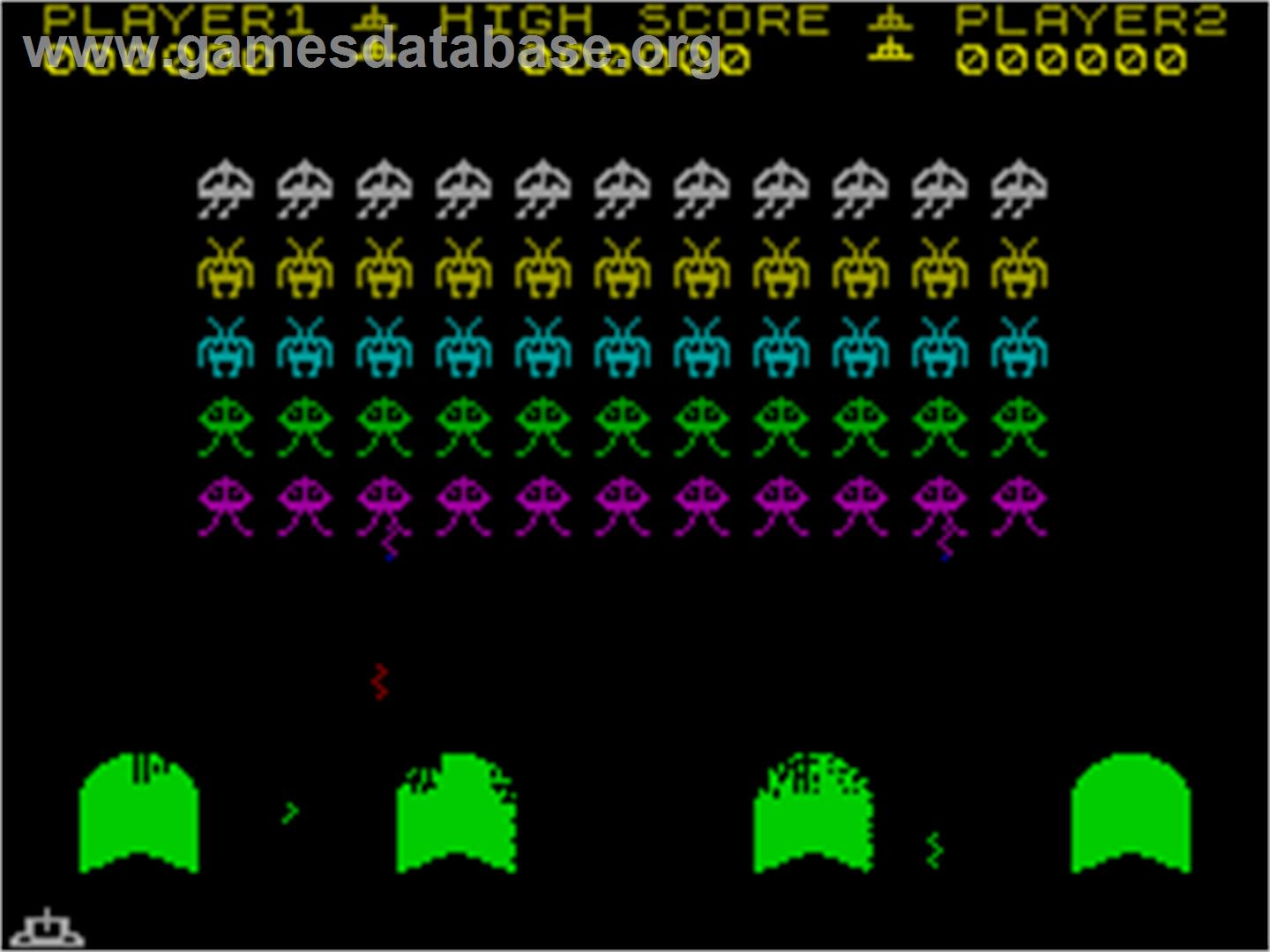 Spectral Invaders - Sinclair ZX Spectrum - Artwork - In Game
