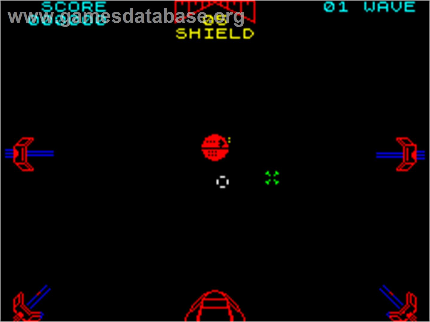In game image of Star Wars: The Empire Strikes Back on the Sinclair ZX
