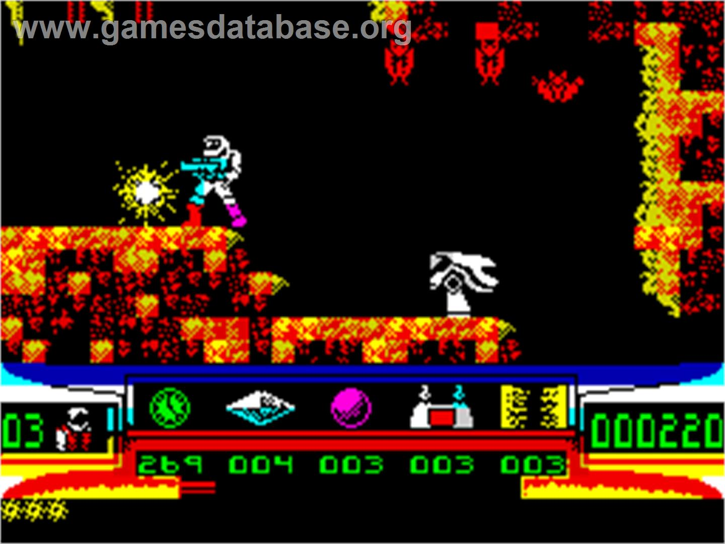 Turrican - Sinclair ZX Spectrum - Artwork - In Game