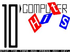 Title screen of 10 Computer Hits 1 on the Sinclair ZX Spectrum.