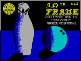 Title screen of 10th Frame on the Sinclair ZX Spectrum.