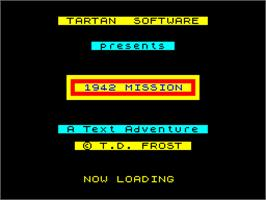 Title screen of 1942 Mission on the Sinclair ZX Spectrum.