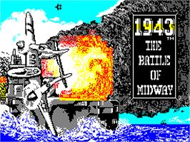 Title screen of 1943 on the Sinclair ZX Spectrum.