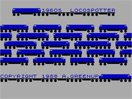Title screen of 1960's Locospotter on the Sinclair ZX Spectrum.