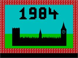 Title screen of 1984: The Game of Government Management on the Sinclair ZX Spectrum.