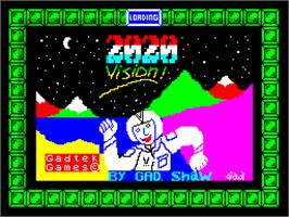 Title screen of 2020 Vision on the Sinclair ZX Spectrum.