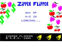 Title screen of 3D-Pinball on the Sinclair ZX Spectrum.