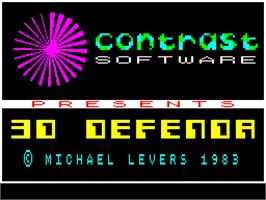 Title screen of 3D Defenda on the Sinclair ZX Spectrum.