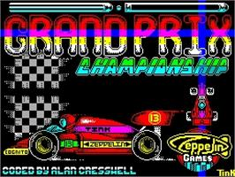 Title screen of 3D Grand Prix Championship on the Sinclair ZX Spectrum.
