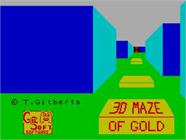 Title screen of 3D Maze of Gold on the Sinclair ZX Spectrum.
