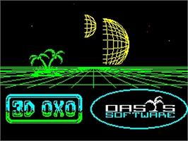 Title screen of 3D OXXO on the Sinclair ZX Spectrum.