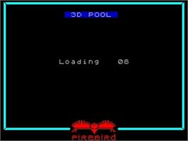 Title screen of 3D Pool on the Sinclair ZX Spectrum.