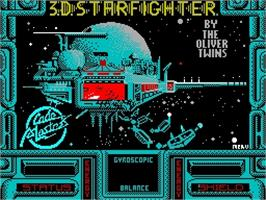 Title screen of 3D Starfighter on the Sinclair ZX Spectrum.
