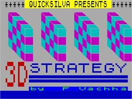 Title screen of 3D Strategy on the Sinclair ZX Spectrum.