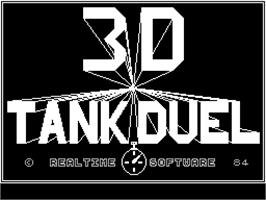 Title screen of 3D Tank Duel on the Sinclair ZX Spectrum.