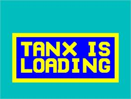 Title screen of 3D Tanx on the Sinclair ZX Spectrum.